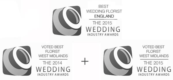 BEST WEDDING FLORIST IN ENGLAND 2014 2015 wedding industry awards BEST WEDDING FLORIST WEST MIDLANDS