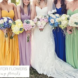 Bright bridesmaids wedding flowers passion for flowers