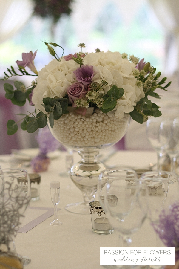 Grafton manor wedding flowers footed vase