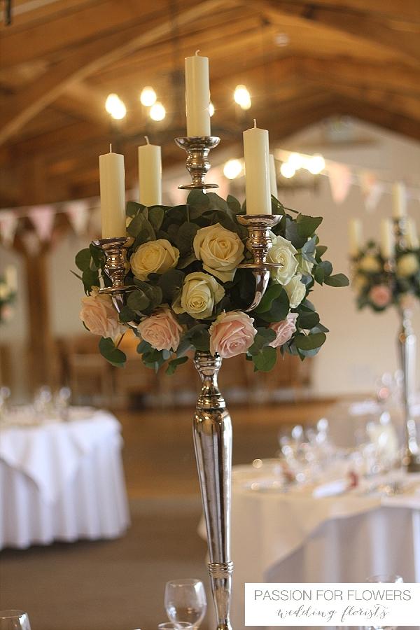 Packington Moor Wedding Flowers candelabra