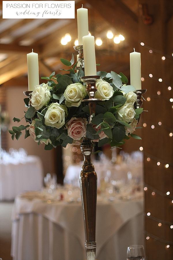 Packington Moor Wedding Candelabra Flowers