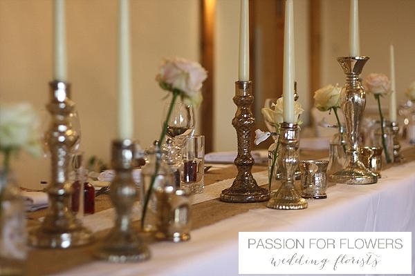 Packington Moor Wedding Top table Flowers