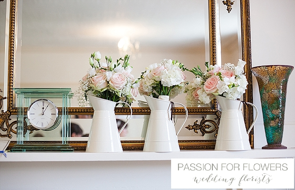 Packington Moor Wedding Bouquets in Jugs