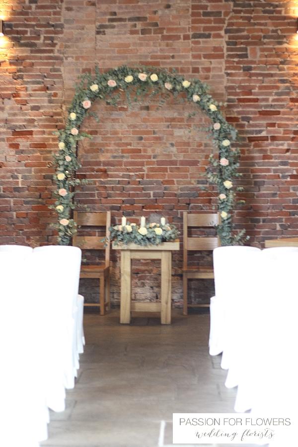 Packington Moor Rustic Wedding Ceremony Flowers