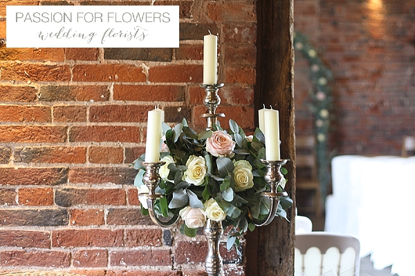 Packington Moor Wedding Candelabra Centrepieces Flowers