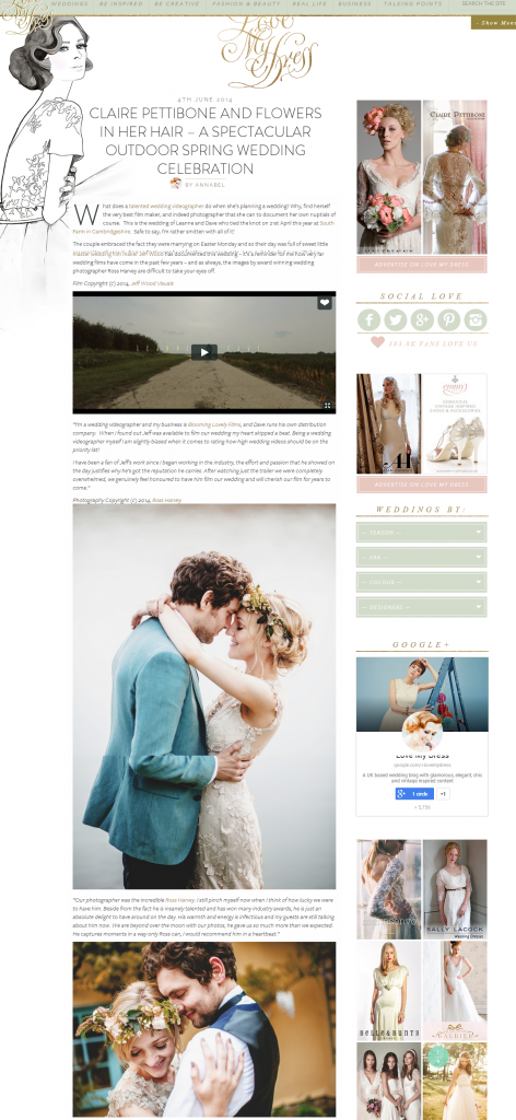 Passion for flowers featured on love my dress blog