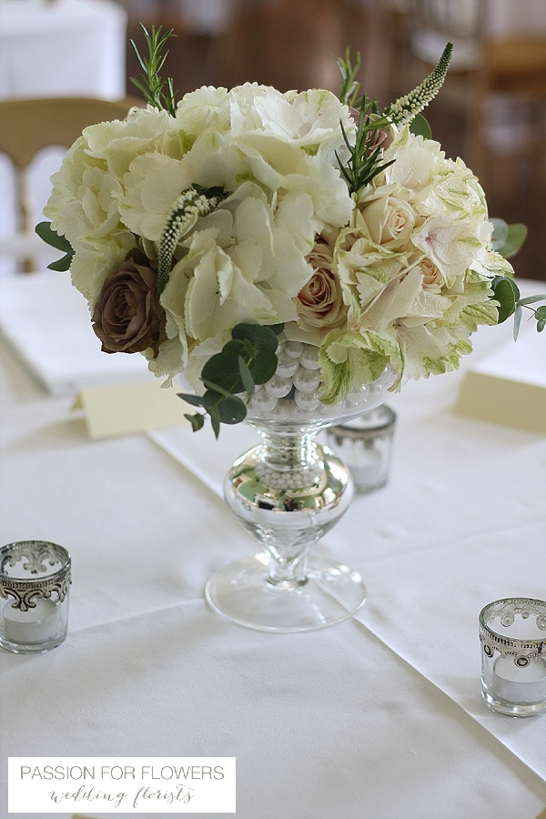 Staunton Harold Wedding Centrepiece Flowers