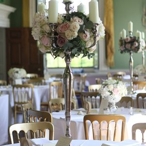 Staunton Harold Wedding Flowers Candelabra