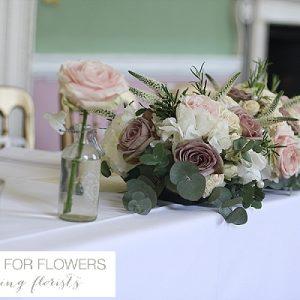 Staunton Harold Wedding Top Table Flowers