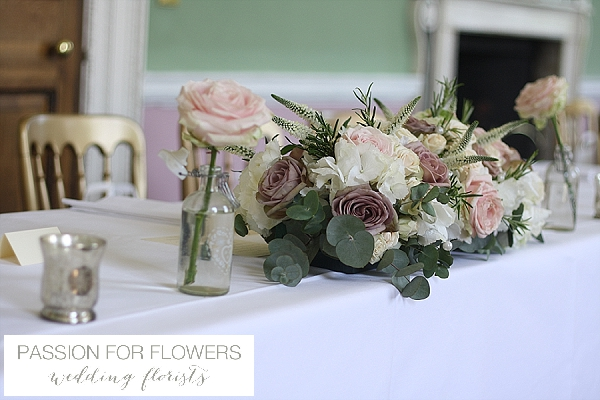 Staunton Harold Wedding Top Table Flowers