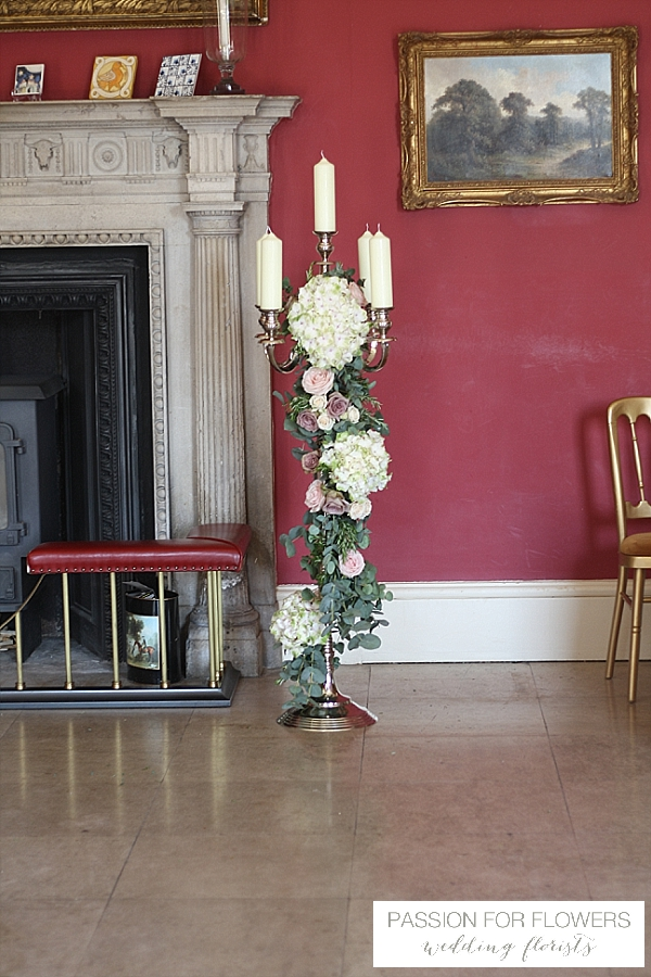 Staunton Harold Wedding Flowers Candelabra
