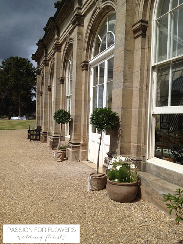 Stoneleigh Abbey Wedding Flowers Bay Trees