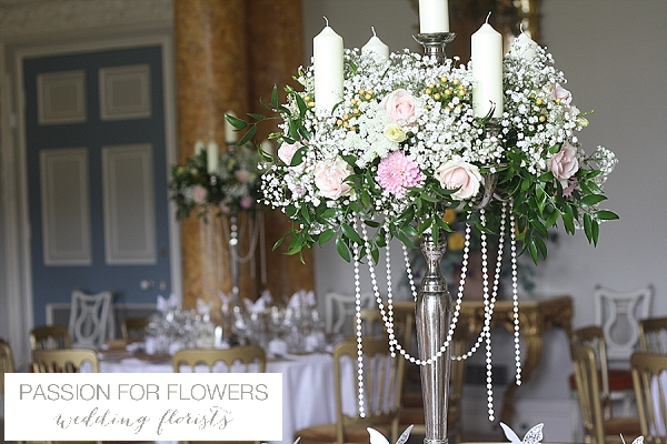 Stoneleigh Abbey Wedding Centrepieces Flowers