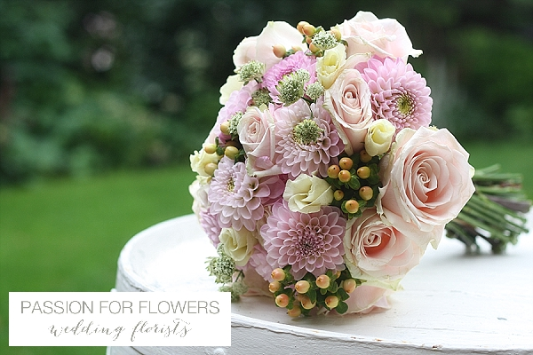 Pink Wedding Bouquet Summer Roses Dahlias