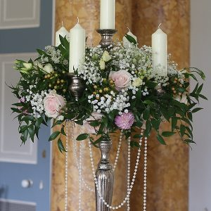 Stoneleigh Abbey Wedding Flowers Candelabra