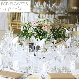 Stoneleigh Abbey Wedding Centrepiece Flowers