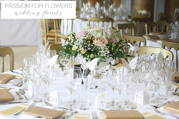 Stoneleigh Abbey Wedding Flowers Centrepiece