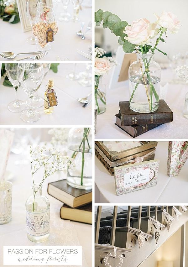 Warwick House  Wedding centrepiece  Flowers