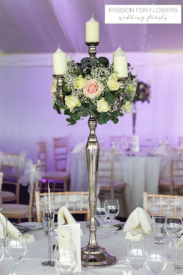 alrewas hayes candelabra wedding flowers