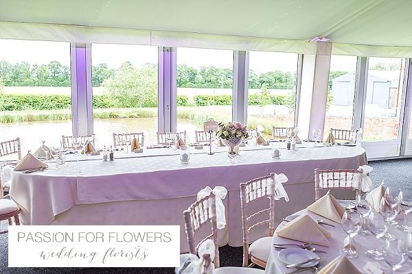 alrewas hayes top table wedding flowers