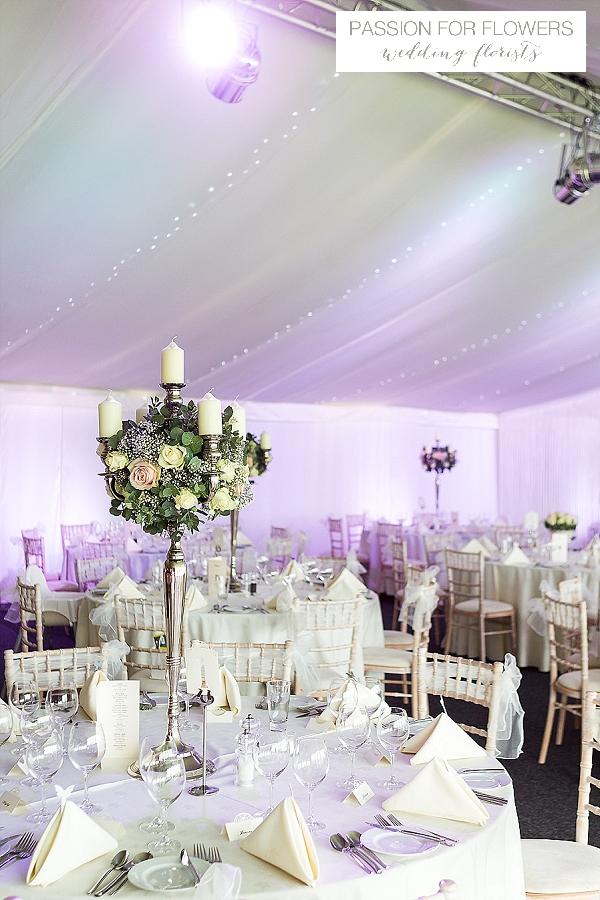 alrewas hayes wedding centrepieces candelabra flowers