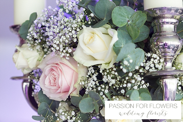 candelabra roses wedding flowers