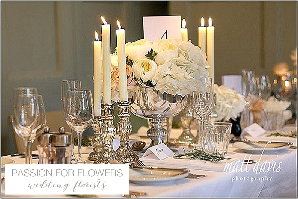 barnsley house wedding centrepiece  flowers