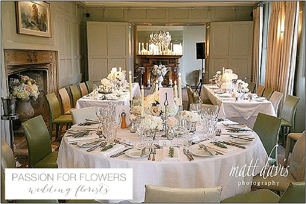 barnsley house wedding tables flowers