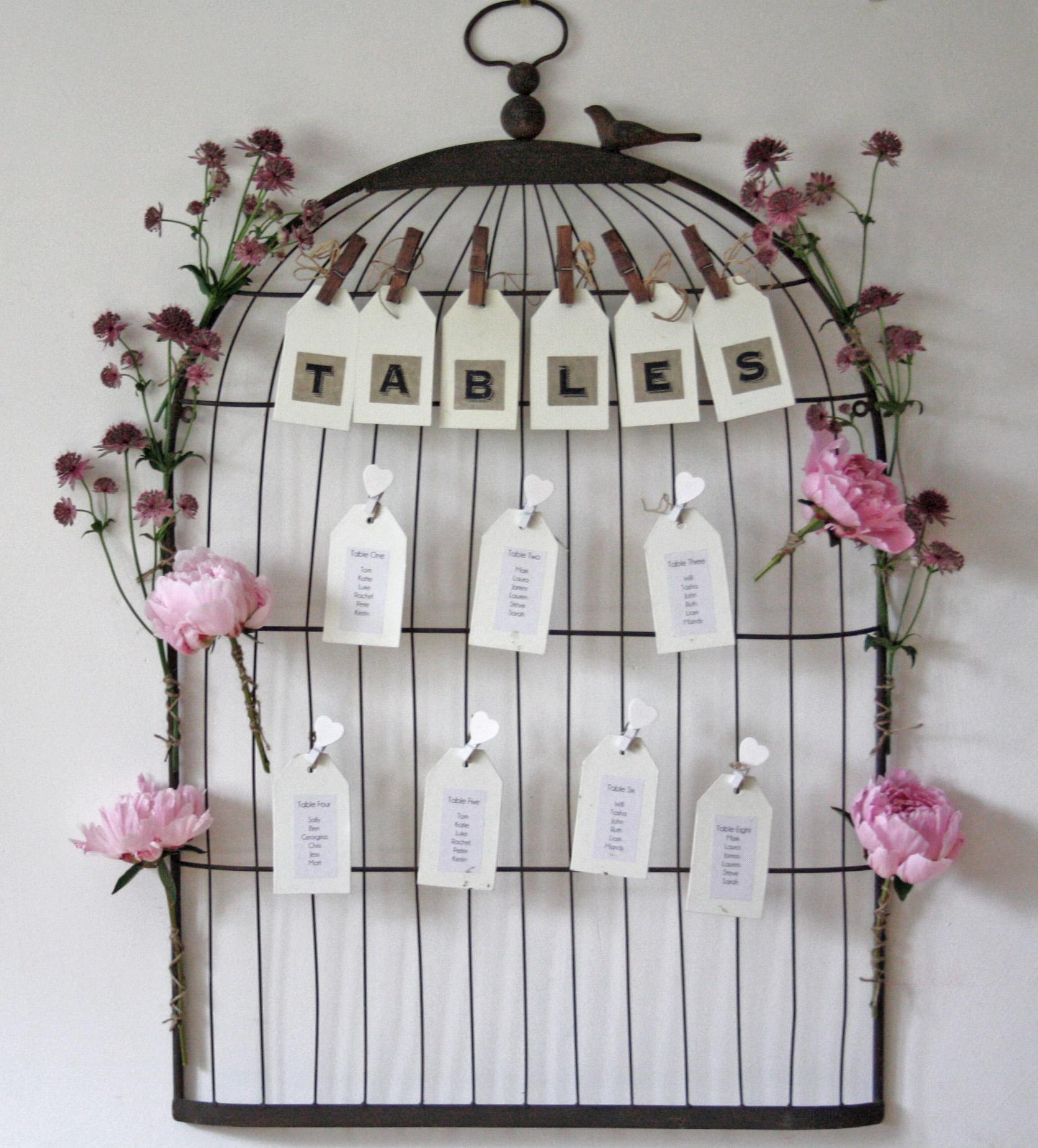 Vintage Wedding Table Plan Ideas: Wedding Props To Hire