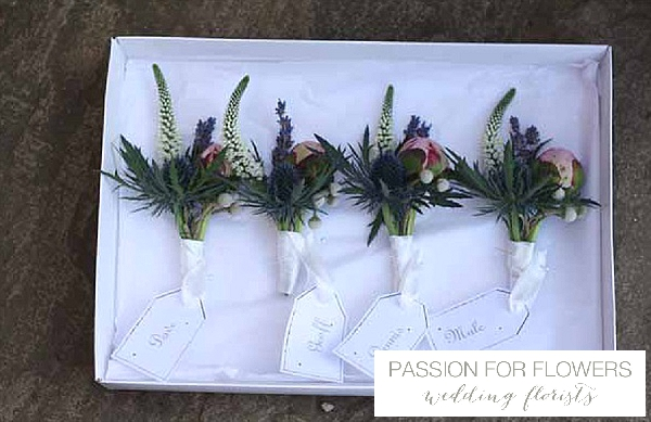 buttonholes thistles pink peony flowers passion for flowers