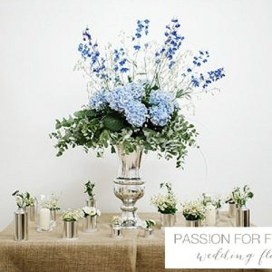 blue wedding flowers passion for flowers