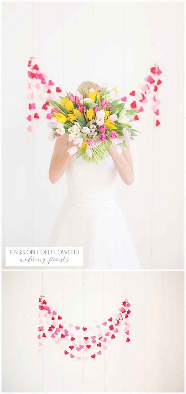 bright tulip bridal bouquets