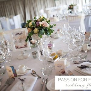 chillington hall wedding centrepiece flowers