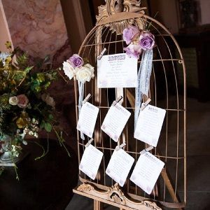 chillington hall wedding birdcage wedding table plan