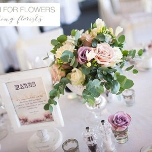 chillington hall wedding centrepieces flowers