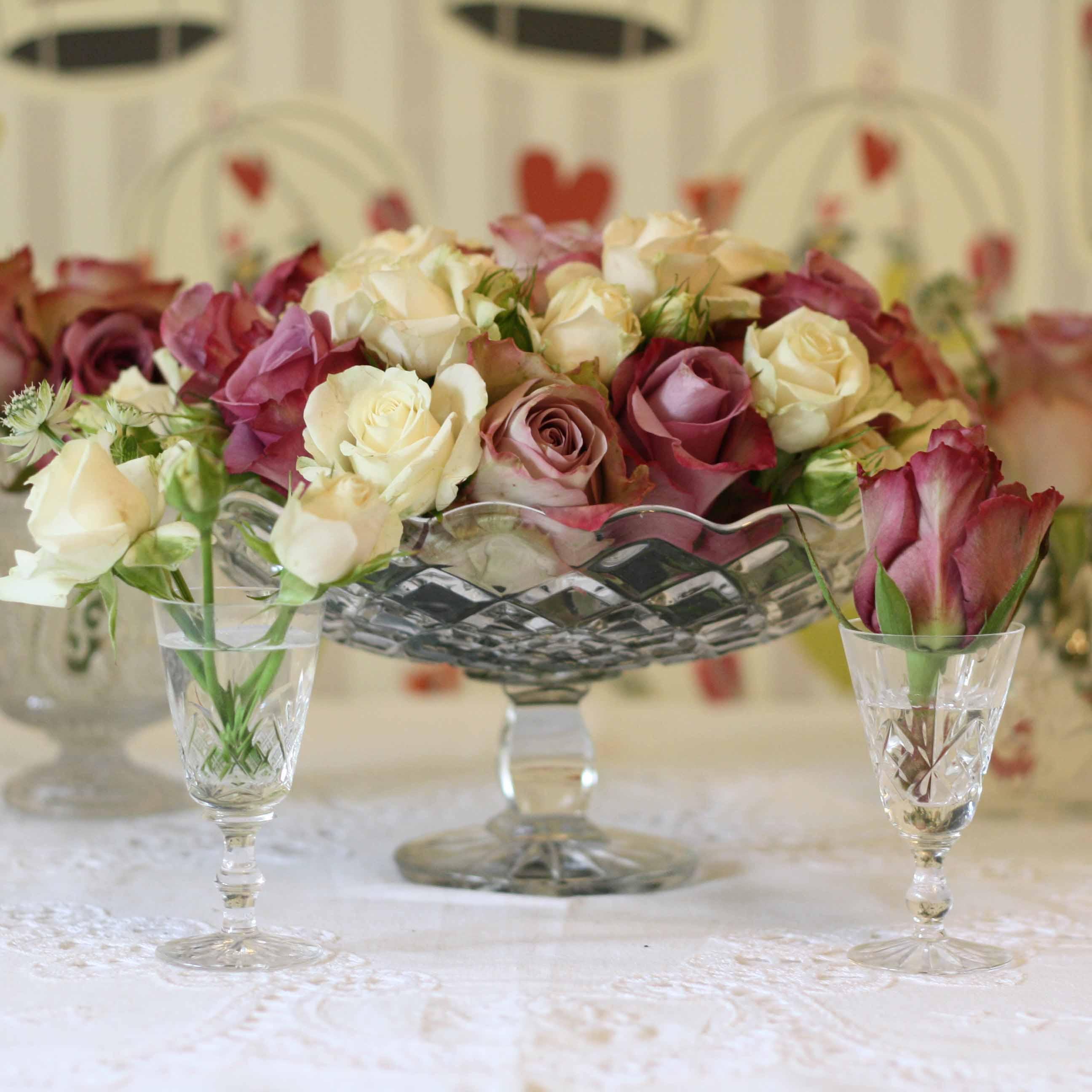 crystal glass vases