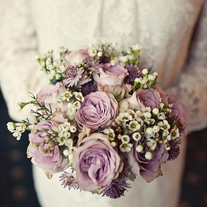 dusky pink wedding bouquet flowers