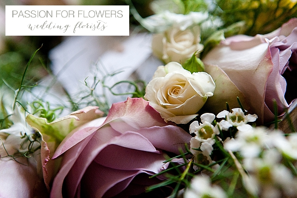 dusky pink roses wedding flowers