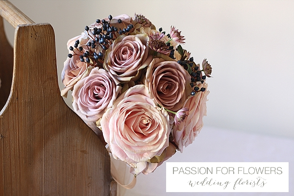 Mocha dusky pink wedding flowers passion for flowers dusky pink memory lane rose wedding flowers mightylinksfo