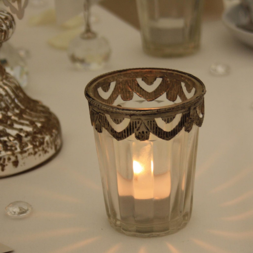 glass tea lights