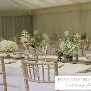 hidcote manor marquee wedding flowers