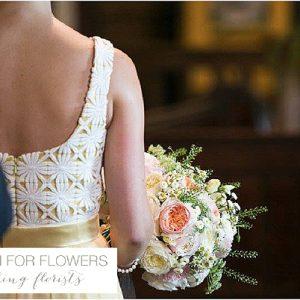 iscoyd park peach yellow wedding flowers