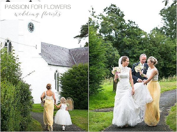 church summer yellow wedding flowers
