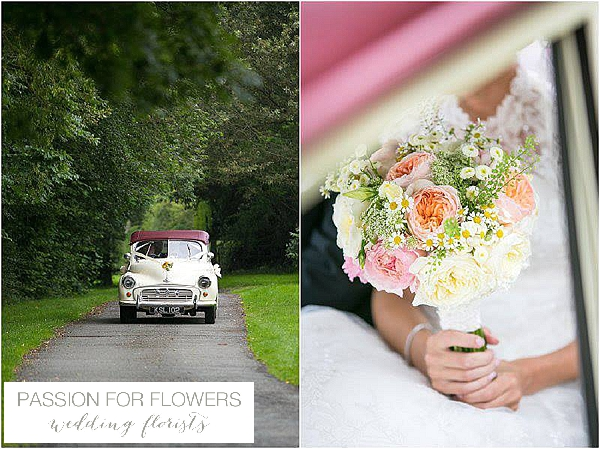 iscoyd park peach yellow summer wedding flowers