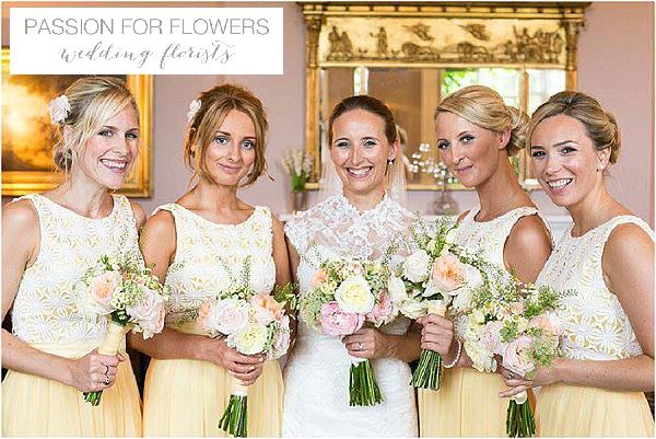 iscoyd park yellow bridesmaids dresses wedding flowers