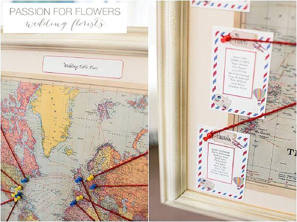 world map wedding table plan iscoyd park