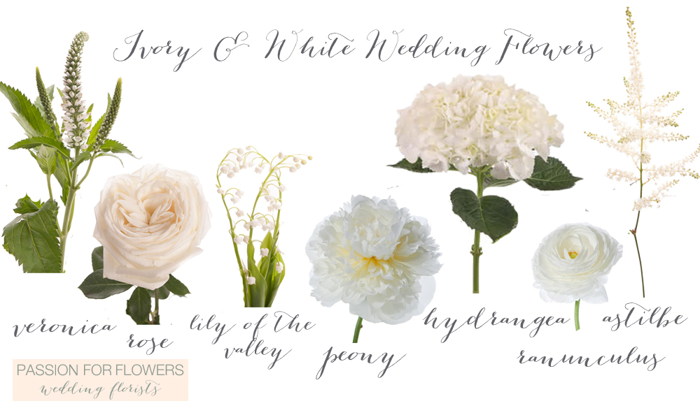 ivory and white wedding flowers