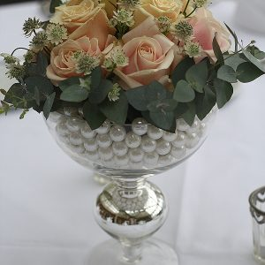kilworth house wedding pink rose centepieces flowers