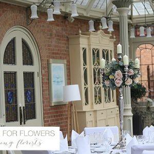 kilworth house wedding flowers candelabra