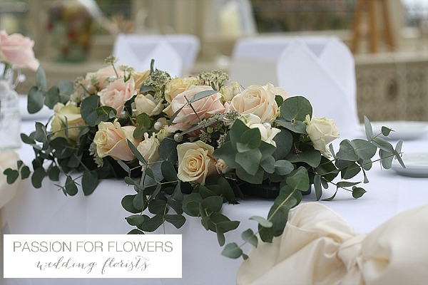 kilworth house wedding top table flowers